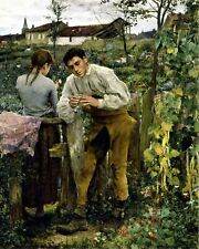 Rural love by Jules Bastien-Lepage. French  Canvas Life Art.  11x14 Print