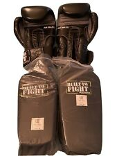 Built To Fight Boxing Gloves And Brand New Shin Insteps Unisex