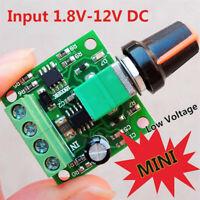 Mini Low Voltage DC 1.8V 3V 5V 6V 12V 2A Motor Speed Controller PWM LED Dimmer