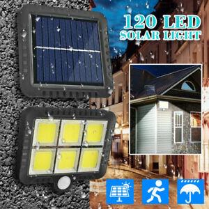 Lampe Solaire éclairage Extérieur Détecteur de Mouvement Applique 120 LED