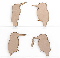 Wooden MDF Kingfisher Birds Decoration 3mm Thick Tags Blank