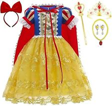 Romy's Collection Princess Snow White Lace Costume Party Dress-up Set