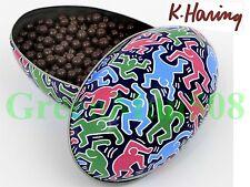 Keith Haring Dark Chocolate Pearls Drops -- Easter Egg – Dancers -- Metal Tin