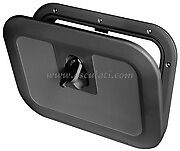 BLACK BOAT DECK HATCH Hinged Lockable Flush Walk On 380 x 280 Caravan  HATBK380L
