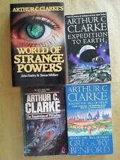 ARTHUR C CLARKE, STRANGE POWERS, EXPEDITION EARTH, FOUNTAINS PARADISE, FALL NIGH