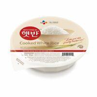 CJ Hetbahn Cooked White Rice, Gluten-Free, Vegan, Microwaveable, 7.4 oz / pack