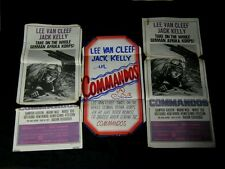 3-Original COMMANDOS Lee Van Cleef NEW ZEALAND MANAGER MADE DAYBILL DISPLAYS