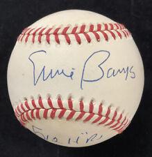 Ernie Banks Signed Baseball Rawlings Cubs Autograph 512 HR Inscription HOF JSA