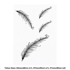 'Long Feather' Temporary Tattoos (TO003115)
