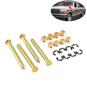 Door Hinge Pins Pin Bushing Kit for Ford F150 F250 F350 Bronco