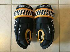 "New listing Mario Lemieux Fantasy Camp Custom Warrior Alpha Qx Pro Gloves -Black- 15"" Senior"