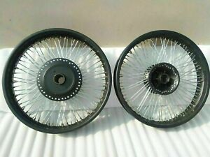 "Royal Enfield Classic 80 Spokes 18"" And 19"" Front Disk Rear Drum Wheel Rim Black"