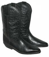 >>> D' Homme Style Western Bottes / Bottes de Cowboy en Noir Env. Gr. 43
