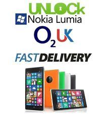Nokia Lumia o2 UK Unlocking unlock code for Microsoft 550 640 650 950 1320