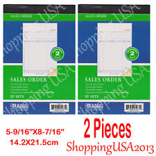 2 X Sales Order Book 2 Part Carbonless Receipt Forms Invoice 50 Sets
