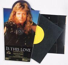 "WHITESNAKE: Is this Love RARE 7"" Complete Single w/ Bonus & Stand HARD ROCK"