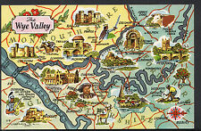 Maps Postcard - Map of The Wye Valley  RS1575