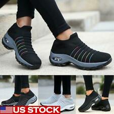 Womens Casual Air Cushion Running Shoes Mesh Walking Sports Slip On Sneakers US