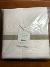 New Pottery Barn Morgan 400-Thread-Count Organic King Bed Skirt Taupe