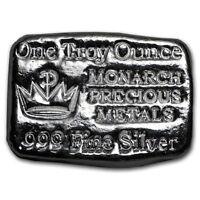 Lingot 1 Once d'argent pur 999 / MPM 1 Oz Fine Silver 999 Hand Poured Bar New