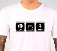Eat Sleep Bang Disc Golf T Shirt - Funny Disc Golf Quote Shirt - Bang Chains Tee