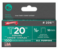 Arrow Fastener 206 T-20 Staple for T-2025 Multipurpose Tacker, 3/8""
