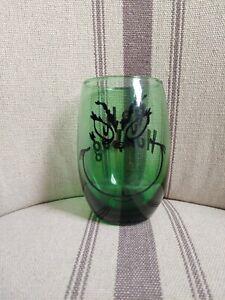 Green Grinch Wine Glass - stemless.