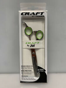 JW CRAFT CT Thinner 40-Tooth Thinner/Blender Shears - Green/Silver