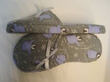PENGUINS FLANNEL SLIPPERS HOUSE SHOES MULES CLOGS SLIP-ONS~XL(11/12) WIDE~NEW