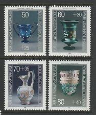Deutschland Berlin 1986 glasswware (humanitäre hilfe Relief) SG B727-B730 Mnh