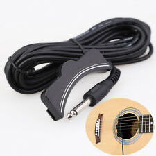 6.3mm Jack Amplifier Soundhole Sound Pickup Cable for Classical Acoustic Guitar