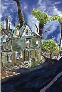 Bob Dylan Drawn BlankInvite Cards, House on Union Street and Stockholm
