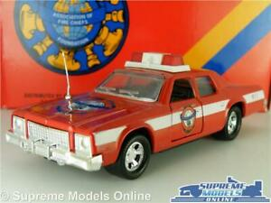 PLYMOUTH GRAN FURY FIRE CHIEF MODEL CAR MATCHBOX K78 K-78 SUPERKINGS 1:43 APRX K