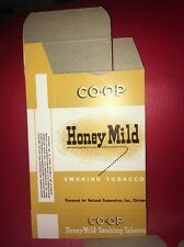Unused Box Honey Mild Co-op Smoking Tobacco Advertising Sign Chicago National Co