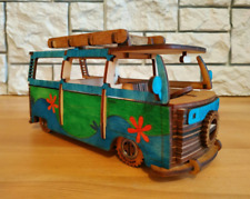 VW Bus VW model Scooby Doo volkswagen T2 miniature fully hand made wooden toy