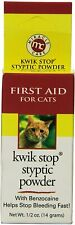 Miracle Care Kwik Stop Styptic Powder CAT 1/2 oz works for all animals first aid