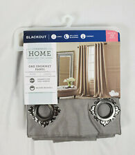 "JCPenney Home Cloudburst Gray Plaza Blackout Grommet Panel, 50""x72"""