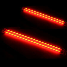 "Car Red Undercar Underbody Neon Kit Lights CCFL Cold Cathode PC Bright 6"" + 12"""