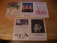 FIVE PAPERMATE   VINTAGE MAGAZINE ADVERT LOT