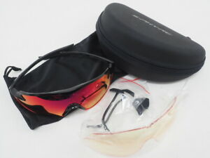 Shimano S-Phyre X Cycling Sport Sunglasses CE-SPHX1 Black/Red OptimalPL Red Lens