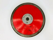 First Place Discus Outdoor Track & Field 1K Throwing Disc-Red-Steel Rim