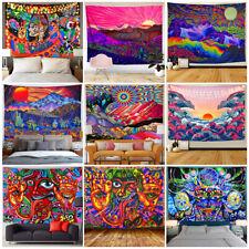 Psychedelic Abstract Sun Mountain Tapestry Indian Natural Wall Hanging Wallcloth