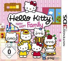 Nintendo 3ds Dual Screen gioco * HELLO KITTY-Happy Happy Family *** Nuovo * NEW