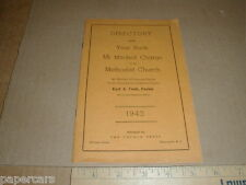 1943 Mt Mitchell Kannapolis China Grove NC Methodist Church Directory Yearbook
