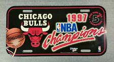 Chicago Bulls NBA 5 Time Champions License  Plate  WinCraft w/ Logo Plastic