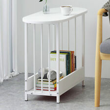White Simple Sofa Bed Side Accent End Table Simple Living Room Bedroom Furniture