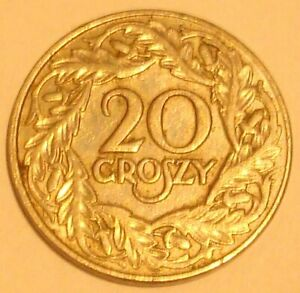 1923 20 Gr  POLISH NICKIEL  Coin