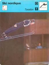 FICHE CARD: Yukio Kasayan Japan Taxation Saut SKI NORDIQUE 1970s