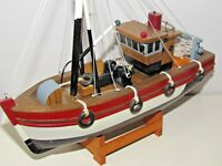Collectable Model Wooden Fishing Vessel Boat....