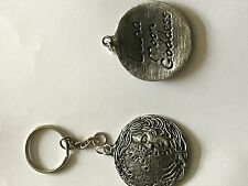 Luna code dr62 Made From Fine English Pewter on a Split Ring Keyring